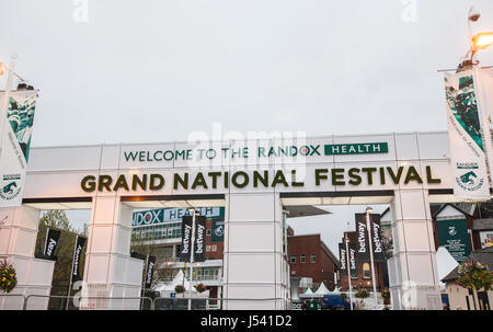 At,Randox Health,Grand National,horse,racing,meeting,Aintree,Liverpool,UK, - Stock Photo