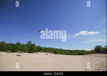 Landscape of the Boberger Dunes, or Boberger Duenen, in south west of Hamburg, Germany. - Stock Photo