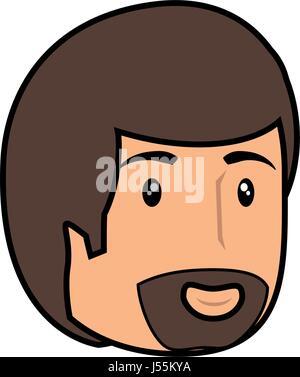 Man smiling cartoon - Stock Photo