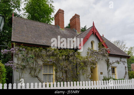 The historical Bunratty Castle & Folk Park at County Clare, Ireland - Stock Photo