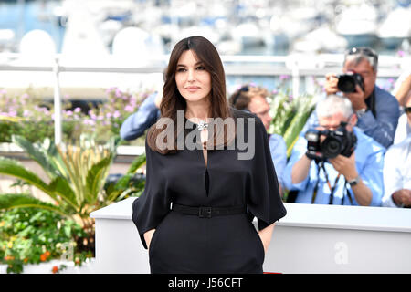 Cannes, France. 17th May, 2017. Italian actress Monica Bellucci poses for a photocall of the 70th Cannes International - Stock Photo