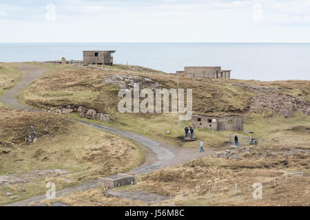 Cove Battery WWII WW2 lookouts at Rubha Nan Sasan, Loch Ewe, Wester Ross, Scotland, UK - Stock Photo