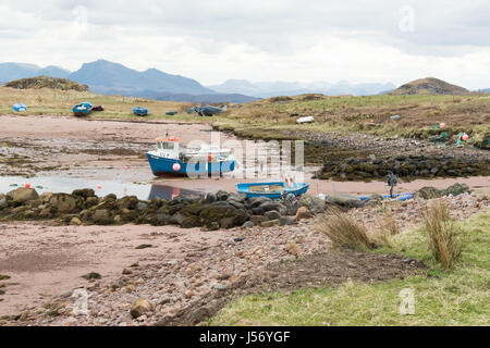 Cove Harbour, Loch Ewe, Poolewe, Wester Ross, Highland, Scotland, UK - Stock Photo