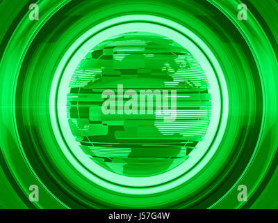 Green Glossy Globe and World Map with White Stripe Pattern - Stock Photo