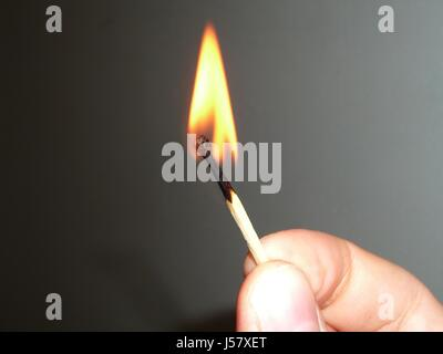 set on fire - Stock Photo