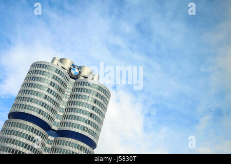 MUNICH, GERMANY - MAY 6, 2017 : A view of the BMW Museum in Munich, Germany. - Stock Photo