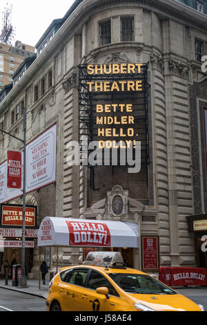 Shubert Theatre in Times Square, New York City, USA - Stock Photo