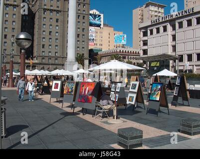 artists' market at union square - Stock Photo