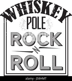 whiskey vector badge - Stock Photo