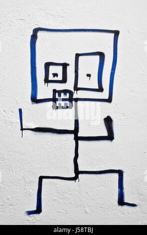 graffiti i-b - Stock Photo