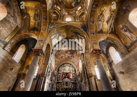 PALERMO, ITALY - October 14, 2009: Presbytery of Romanic church San Cataldo build in years 1154 - Stock Photo