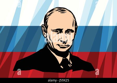 The President Of Russia Vladimir Vladimirovich Putin - Stock Photo