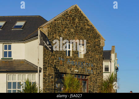 Ireland, MAY 8: Inn near the famous Giant's Causeway on MAY 8, 2017 at County Antrim, Northern Ireland - Stock Photo