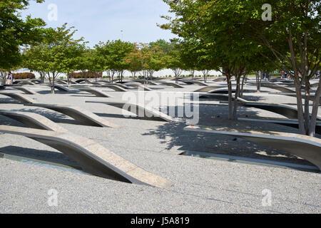 pentagon 9/11 memorial site Washington DC USA - Stock Photo