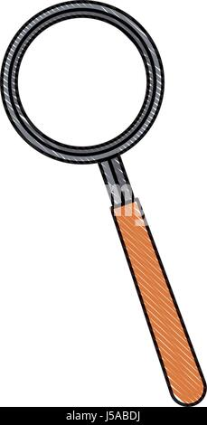 drawing magnifier find technology element - Stock Photo