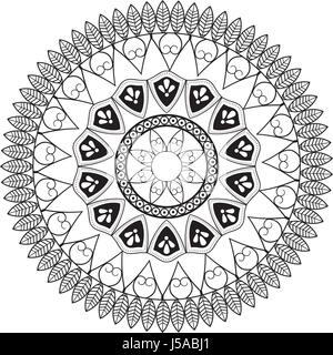 mandala vintage decoration classic circular design - Stock Photo