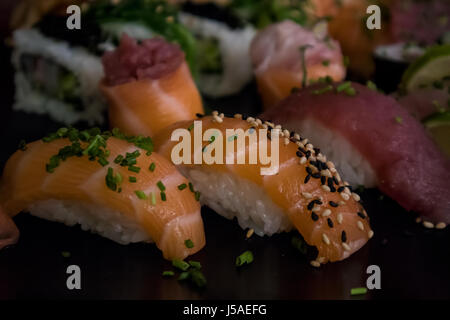 Sushi combo with several pieces - Stock Photo