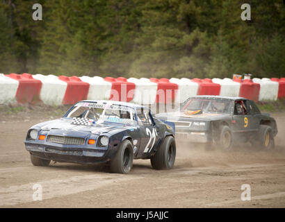Small Town Dirt Track Stock Car Racing Home Made Race Cars On A