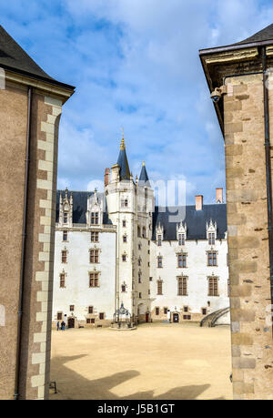 Castle of the Dukes of Brittany in Nantes, France - Stock Photo