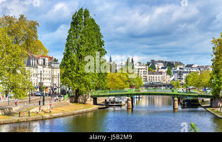 The Erdre River in Nantes, France - Stock Photo