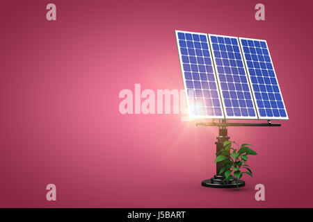 flare against red and white background - Stock Photo