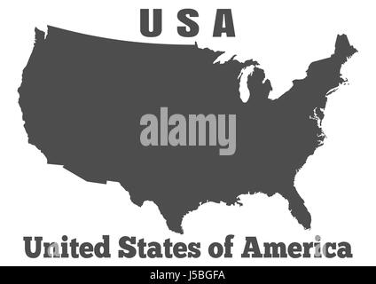 United States of America USA - high detailed map
