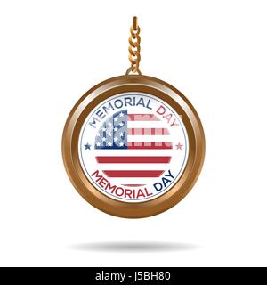Round medallion for Memorial Day - Stock Photo