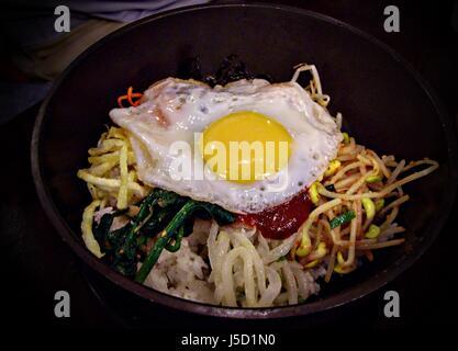 Rak000736 Bibimbap Korean Traditional Food In Hot Stone Pot Bibimbap Is Steamed Rice Topped With