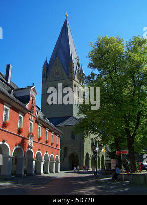the st. patrokli cathedral in soest - Stock Photo