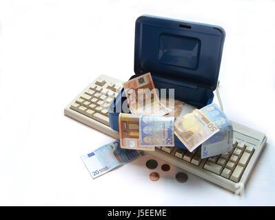 bank lending institution it computing information technology monetary - Stock Photo