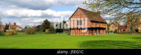The Moot Hall; Elstow village; John Bunyans birthplace; Bedfordshire, England, UK - Stock Photo