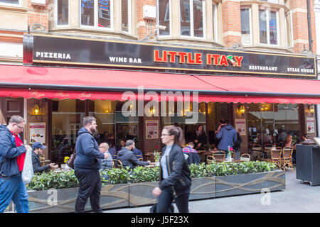 Restaurants in Irving Street in London's West End near Leicester Square - Stock Photo