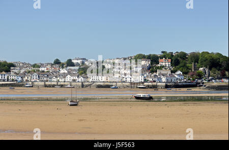 North Devon seaside town of Appledore viewed from Instow - Stock Photo