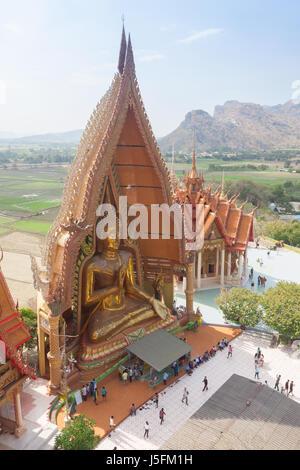Thai temple Wat thum sua in Kanjanaburi, Thailand. - Stock Photo