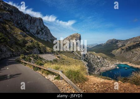 The beautiful scenic roads of the Cap de Formentor, Mallorca, Majorca, Balearic Islands, Spain - Stock Photo