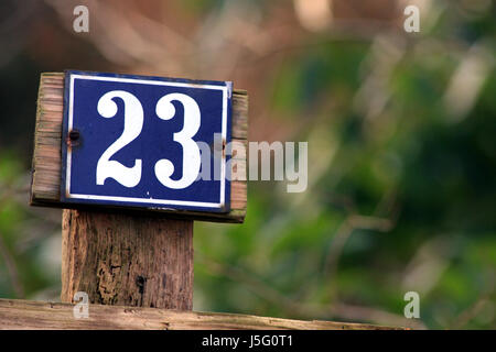 house number 23 of nowhere - Stock Photo