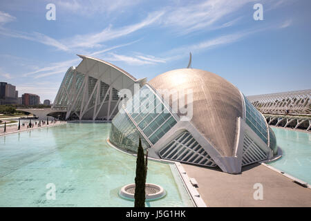 The City of Arts and Sciences in Valencia, Spain. - Stock Photo