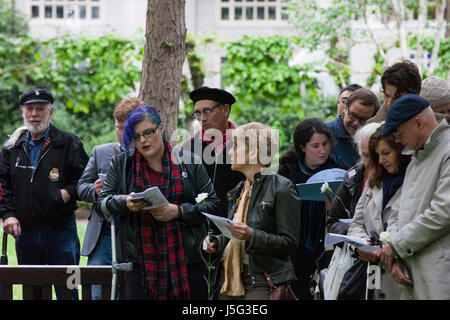 London, UK. 15th May, 2017. Sir Mark Rylance attends a ceremony in honour of all conscientious objectors in Tavistock - Stock Photo