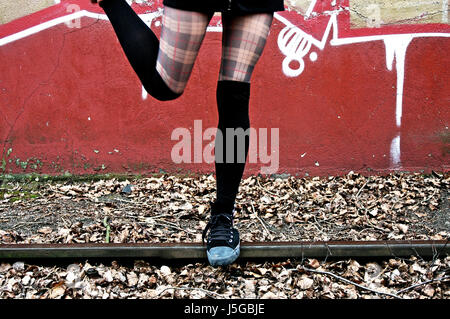 woman legs sport sports female human human being person black swarthy jetblack - Stock Photo