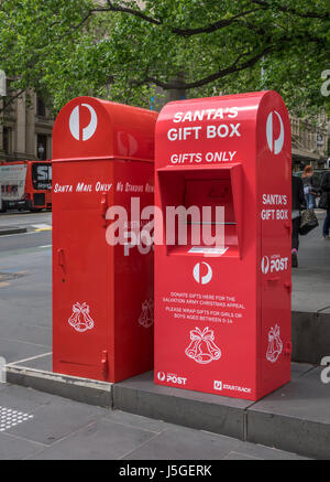 Santa claus post box for letter to father christmas at the north donation and letterbox for santa claus father christmas charity in melbourne australia operated by the salvation spiritdancerdesigns Gallery