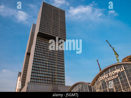De Rotterdam Building And Cruise Terminal, Katendrecht, Rotterdam, The  Netherlands   Stock Photo