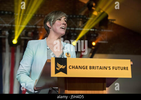 London, UK. 17th May, 2017. Daisy Cooper, Liberal Democrat shadow minister for young people and candidate for St - Stock Photo