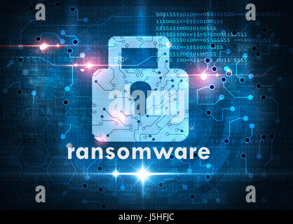 ransomware attack cybersecurity concept - Stock Photo