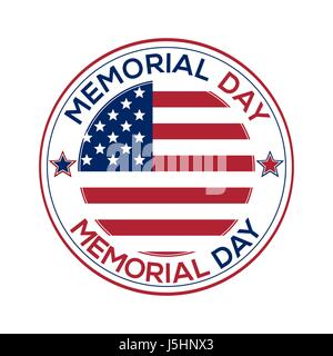 Round banner for Memorial Day - Stock Photo