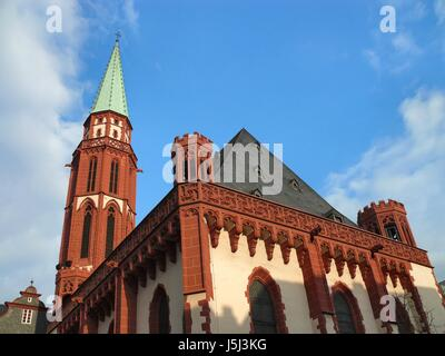 religion detail admission frankfort church evangelic evangelists nikolaikirche - Stock Photo