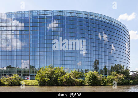 The Louise Weiss Building - European Parliament - Strasbourg, Alsace, France. - Stock Photo