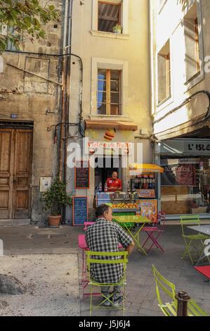 Juice Bar, Isle-sur-la-Sorgue, France - Stock Photo