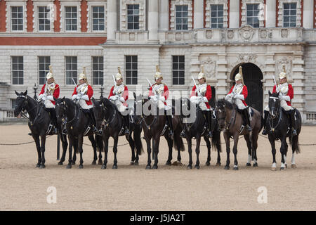 Household Cavalry. Changing of the guard at Horse guards parade, London, UK - Stock Photo