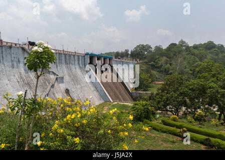 Neyyar Dam in Kerala state of India - Stock Photo