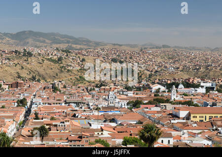 The capital city of Bolivia - Sucre has a rich colonial heritage, evident in its buildings, street-scapes and numerous - Stock Photo